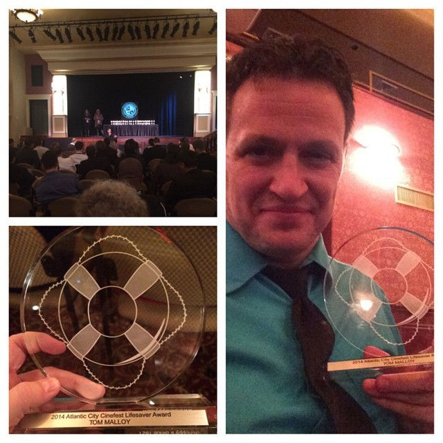 Tom Malloy Wins the Lifesaver Award at AC Cinefest!